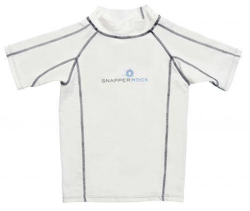 Snapper-Rock---UV-schützendes-T-Shirt-mit-kurzem-Arm---Weiß