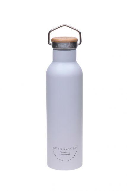 Lässig---Trinkflasche---Edelstahl---Grau