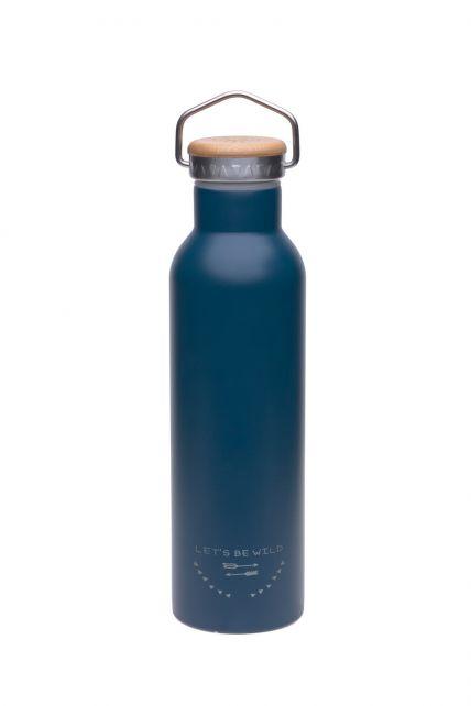 Lässig---Trinkflasche---Edelstahl---Blau