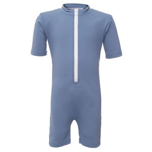 Petit-Crabe---UV-Schwimmanzug-Kurzärmlig---Indianer---Hellblau