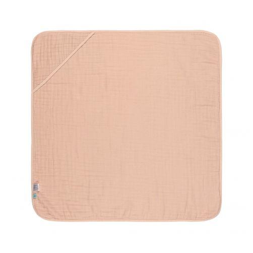 Lässig---Kapuzenhandtuch-aus-Mull---Pink