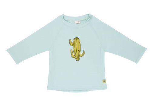 Lässig---UV-Badeshirt-für-Kinder---Langarm---Kaktus---Hellblau