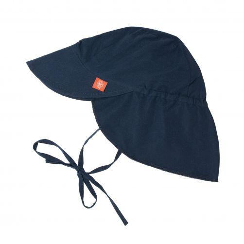 Lässig---Sonnenkappe-mit-Nackenschutz-für-Kinder---Dunkelblau