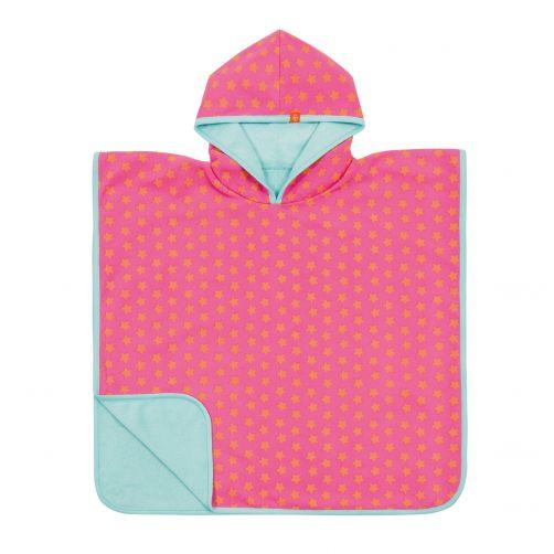 Lässig---Strandponcho-für-Kinder---Star---Rosa/Apricot