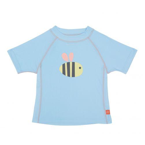 Lässig---UV-schützendes-Badeshirt-für-Kinder---Bumble-Bee---Hellblau