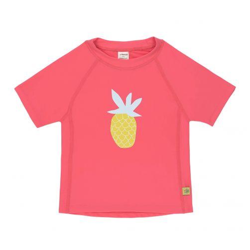 Lässig---UV-Badeshirt-für-Mädchen---Kurzarm---Ananas---Pink