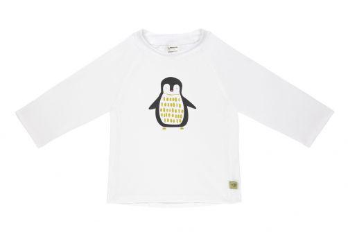 Lässig---UV-Badeshirt-für-Kinder---Langarm---Pinguin---Weiß