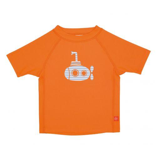 Lässig---UV-schützendes-Badeshirt-für-Kinder---Submarine---Orange