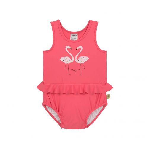 Lässig---UV-Badeanzug-für-Mädchen---Flamingo---Pink