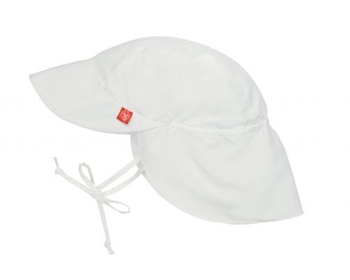 Lässig---Sonnenkappe-mit-Nackenschutz-für-Kinder---Weiß