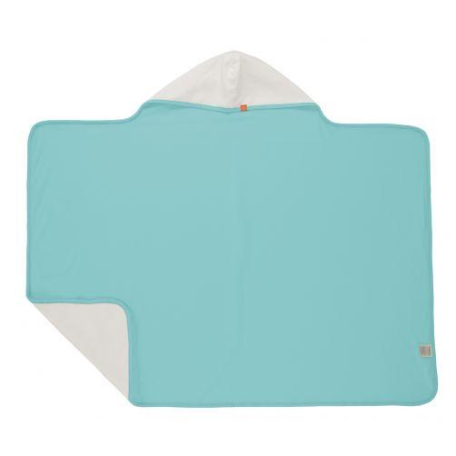 Lässig---Kapuzenhandtuch---Hellblau/Weiß