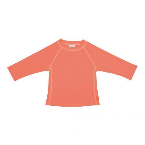 Lässig---UV-schützendes-Badeshirt-für-Kinder---langärmlig---Apricot