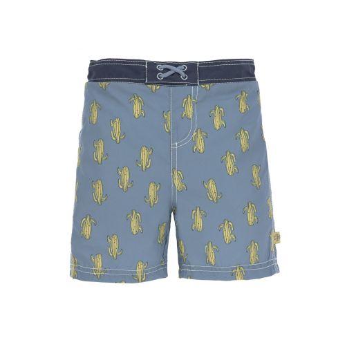 Lässig---UV-Badehose-für-Jungen-mit-Windel---Kaktus---Blau