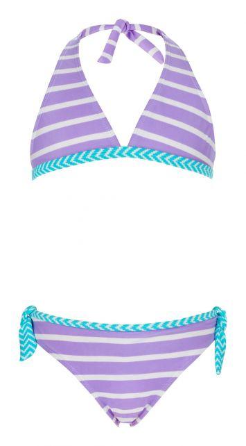Snapper-Rock---Klassischer-Bikini-Streifen-lavendel--weiss