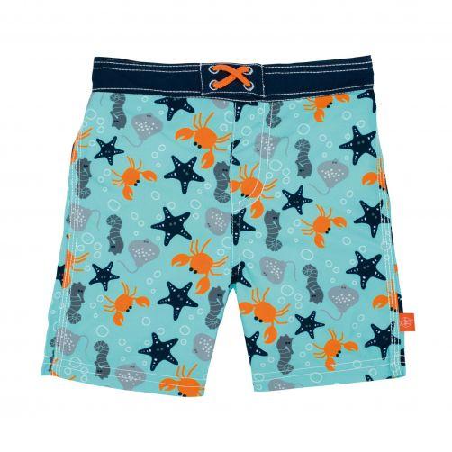 Lässig---Schwimmshorts-für-Jungen---Star-Fish---Hellblau