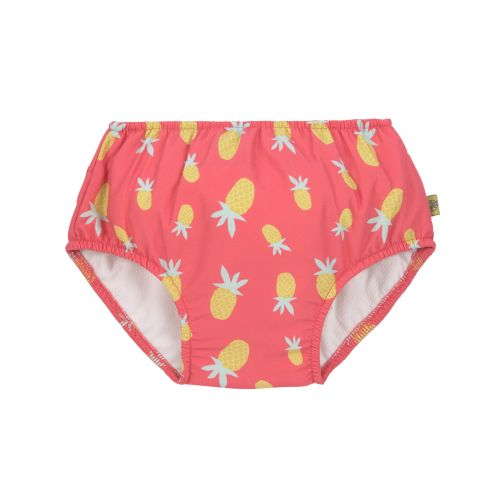 Lässig---Schwimmwindel-für-Mädchen---Ananas---Pink-/-Gelb