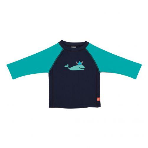 Lässig---UV-schützendes-Badeshirt-für-Kinder---Whale---Dunkelblau