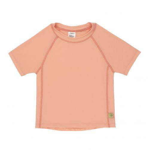 Lässig---UV-Badeshirt-für-Mädchen---Kurzarm---Pfirsichfarben