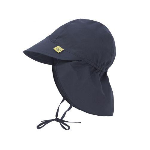 Lässig---UV-Kappe-für-Babys-mit-Nackenschutz---Dunkelblau