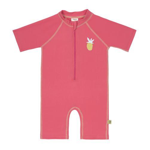 Lässig---UV-Schwimmanzug-für-Mädchen---Kurzarm---Ananas---Pink