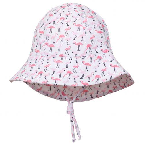 Petit-Crabe---UV-Sonnenhut-Für-Kinder---Flamingo---Weiß/Rosa