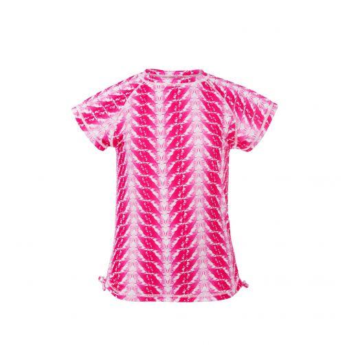 Snapper-Rock---Badeshirt-für-Mädchen---Fuchsia-Federn---Pink
