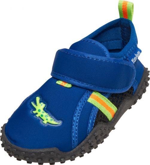 Playshoes---UV-Badeschuhe-für-Jungen---Krokodil---Blau-/-Schwarz