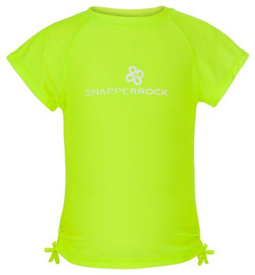 Snapper-Rock---UV-T-Shirt-für-Mädchen-neon-zitrone