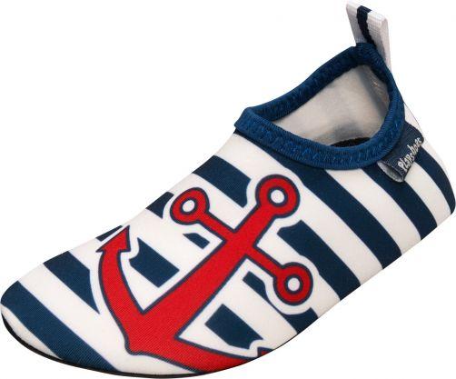 Playshoes---UV-Badeschuhe-für-Kinder---Maritim---Blau/weiß/rot