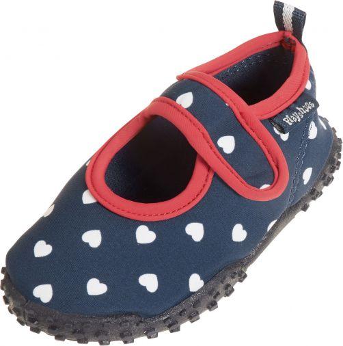 Playshoes---UV-Badeschuhe-für-Mädchen---Herzen---dunkelblau