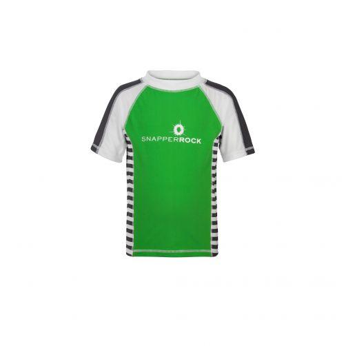 Snapper-Rock---UPF50+-T-Shirt-grün-Streifen