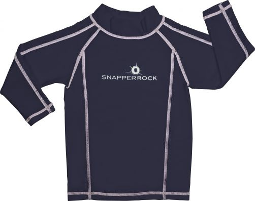 Snapper-Rock---UV-Langarm-Shirt-für-Kinder-dunkelblau-weiss
