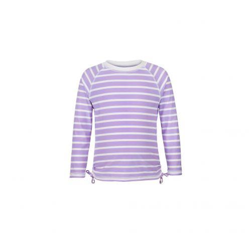 Snapper-Rock---UV-Langarm-Shirt-für-Mädchen-Streifen-lavendel