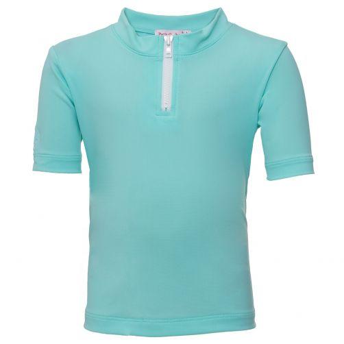 Petit-Crabe---UV-Shirt-Kurzärmlig-Mit-Reißverschluss---Mint