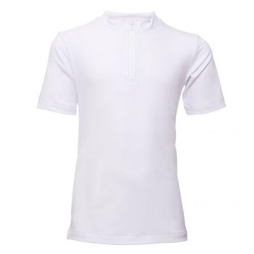 Petit-Crabe---UV-Shirt-Kurzärmlig-Mit-Reißverschluss---Weiß