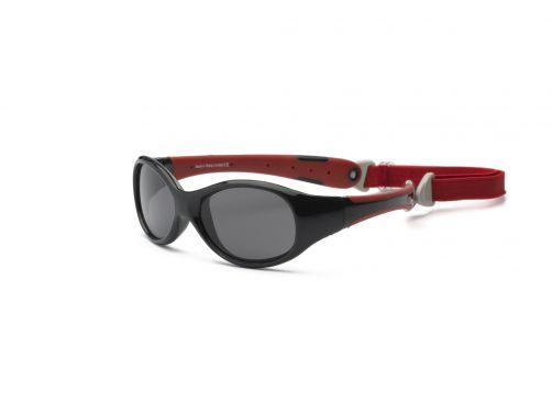 Real-Kids-Shades---UV-Sonnenbrille-für-Kinder---Schwarz/Rot
