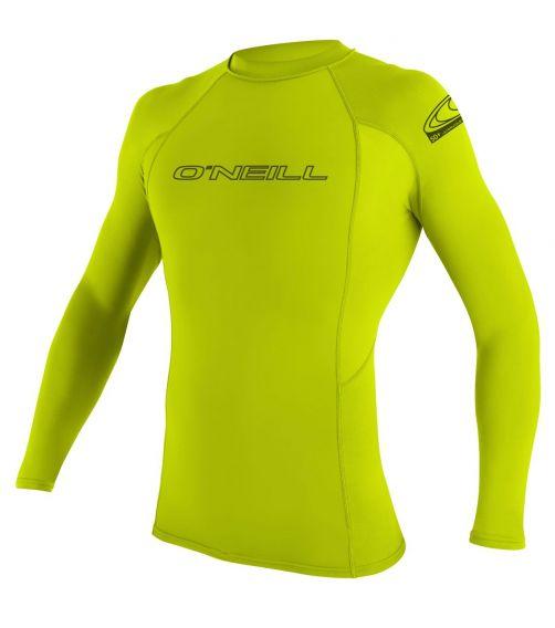 O'Neill---UV-Shirt-für-Herren---langärmlig---Basic-Rash---Limone