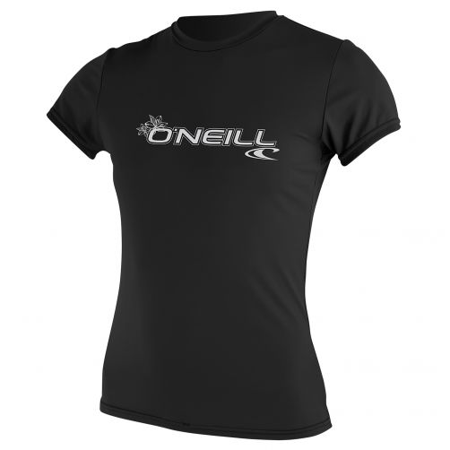 O'Neill---UV-Shirt-für-Damen---Slim-Fit-kurzärmlig---Schwarz