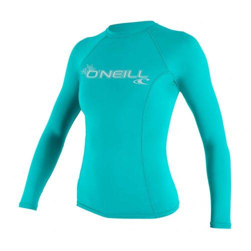 O'Neill---UV-Shirt-für-Damen---langärmlig---Basic-Rash---Aqua