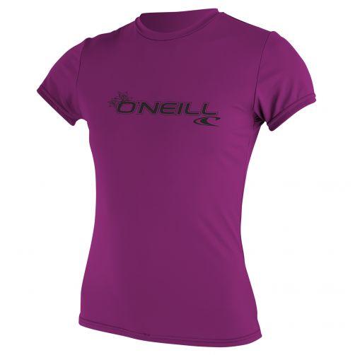 O'Neill---UV-Shirt-für-Damen---Slim-Fit-kurzärmlig---Pink