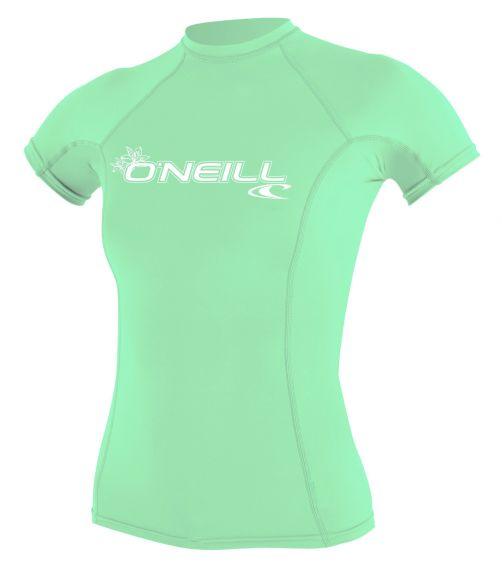 O'Neill---UV-Shirt-für-Damen---kurzärmlig---Basic-Rash---Aqua