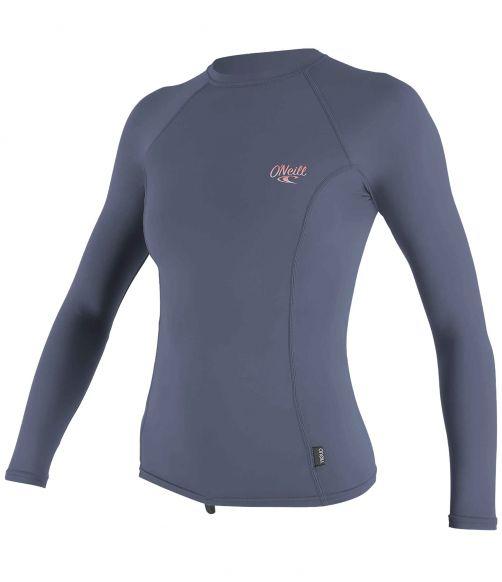 O'Neill---UV-Shirt-für-Damen---langärmlig---Premium-Rash---Nebelblau