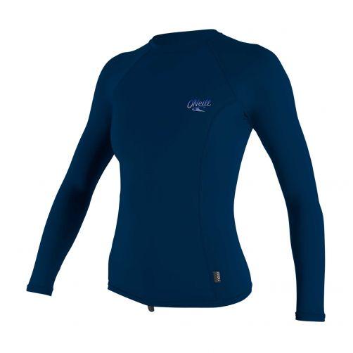 O'Neill---UV-Shirt-für-Damen---langärmlig---Premium-Rash---Perlmuttblau