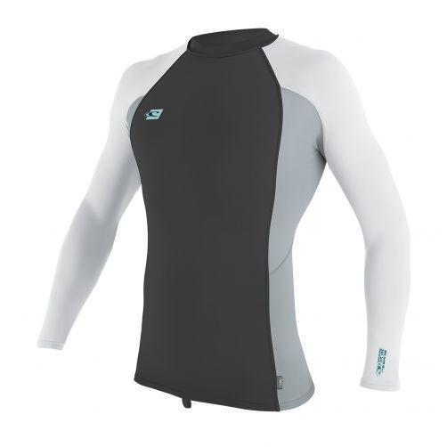 O'Neill---Männer-Premium-UV-Shirt---Langarm---grau-/-weiß