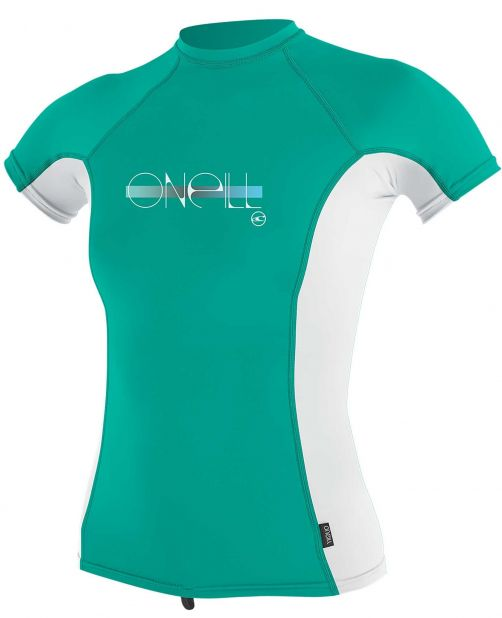 O'Neill---UV-Shirt-für-Mädchen---kurzärmlig---Premium-Rash---Baltischgrün
