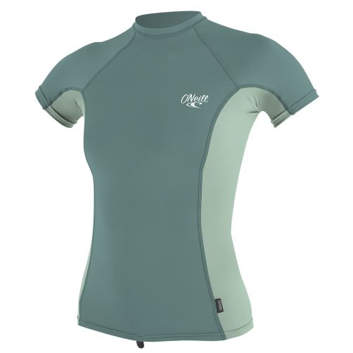 O'Neill---UV-Shirt-für-Damen---Kurzarm---Minze-/-Eukalyptus