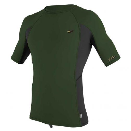 O'Neill---UV-Shirt-für-Herren---kurzärmlig---Premium-Rash---Olivgrün
