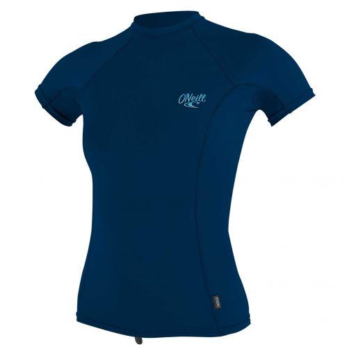 O'Neill---UV-Shirt-für-Damen---kurzärmlig---Premium-Rash---Tiefseeblau