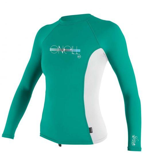 O'Neill---UV-Shirt-für-Mädchen---langärmlig---Premium-Rash---Baltischgrün