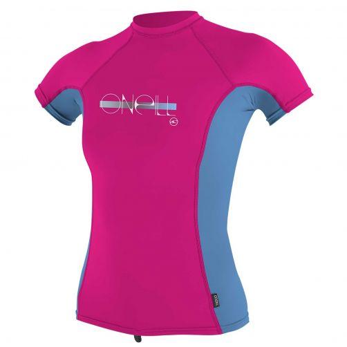 O'Neill---UV-Shirt-für-Mädchen---kurzärmlig---Premium-Rash---Beerenrosa